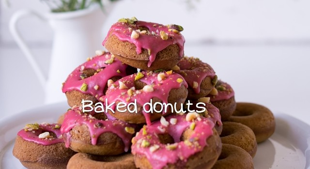Baked donuts αρωματισμένα με τσάι και online shopping από τα ABclick2shop